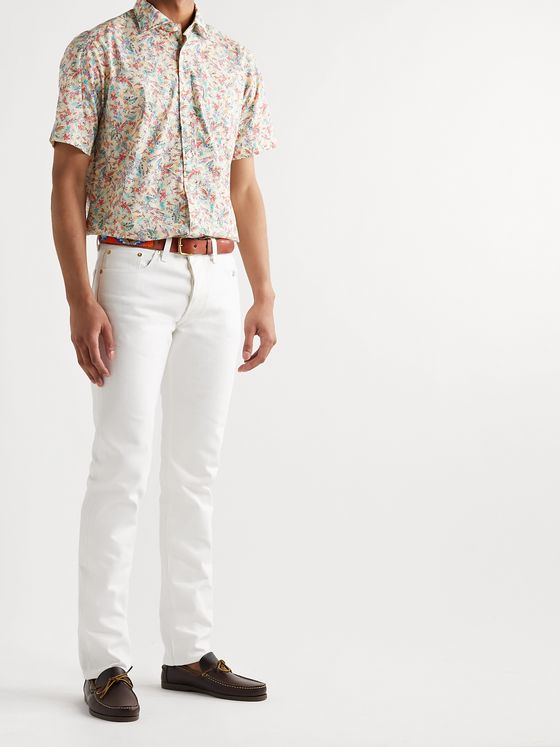 Sid Mashburn Printed Cotton-Poplin Shirt