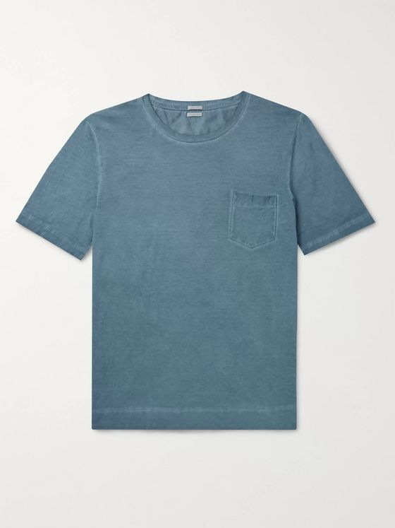 Massimo Alba Watercolour-Dyed Cotton-Jersey T-Shirt