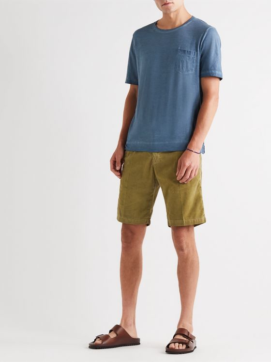 Massimo Alba Slim-Fit Watercolour-Dyed Cotton-Corduroy Shorts