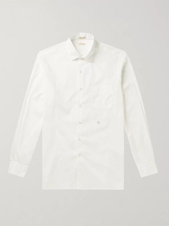 Massimo Alba Slim-Fit Cotton-Poplin Shirt