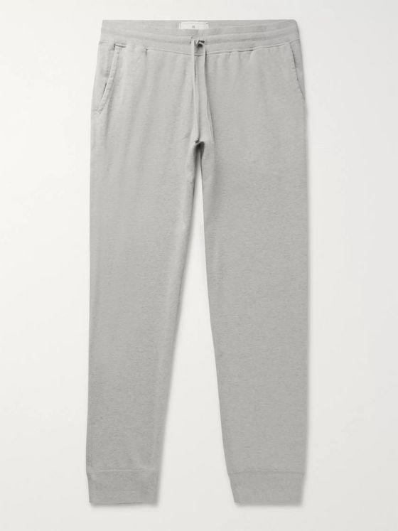 Reigning Champ Slim-Fit Mélange Loopback Pima Cotton-Jersey Drawstring Sweatpants