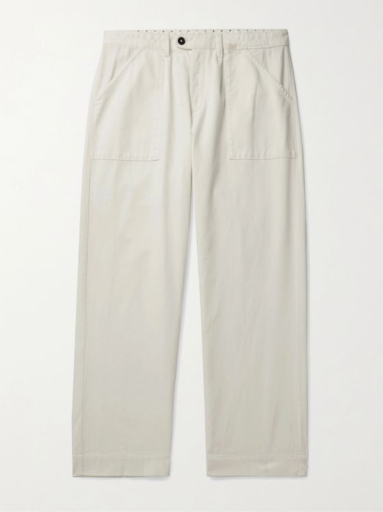 Massimo Alba Stretch Cotton and Cashmere-Blend Trousers