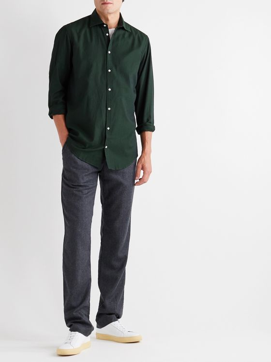 Massimo Alba Slim-Fit Cotton-Twill Shirt