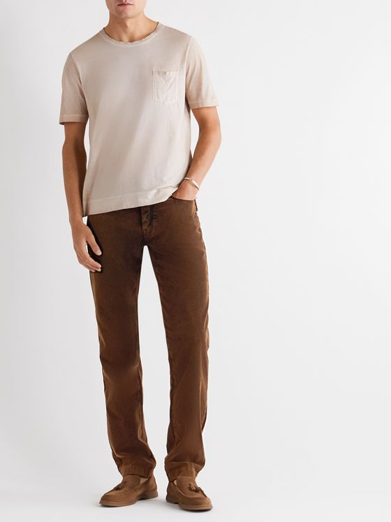 Massimo Alba Tapered Cotton-Corduroy Trousers