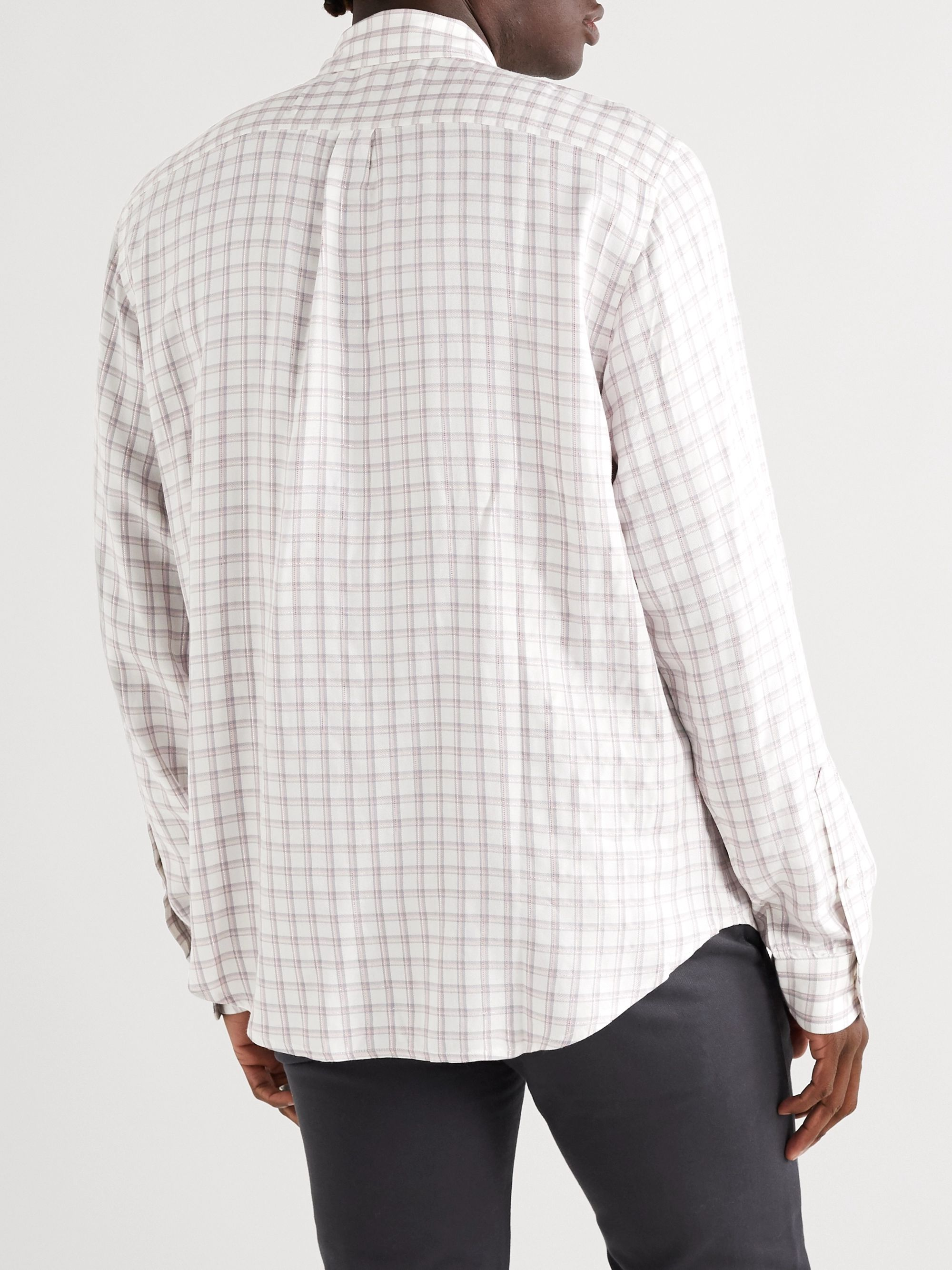 Noon Goons Jazzed Oversized Glittered Checked Jacquard Shirt