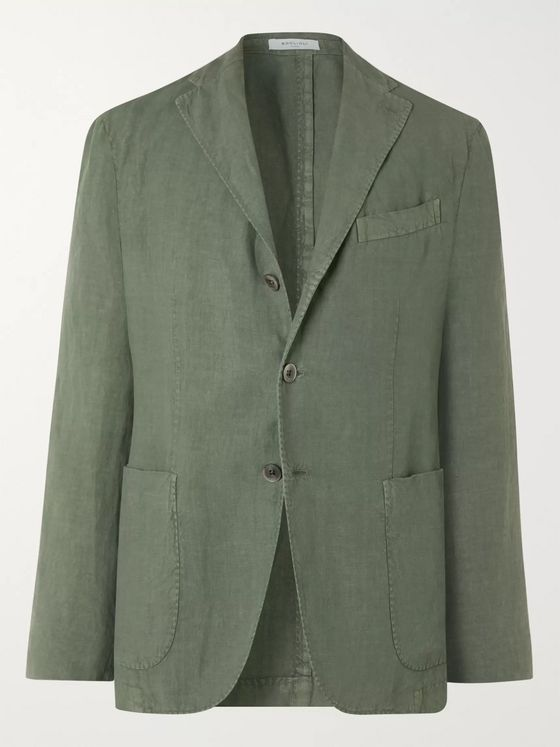 Boglioli Slim-Fit Unstructured Linen Suit Jacket