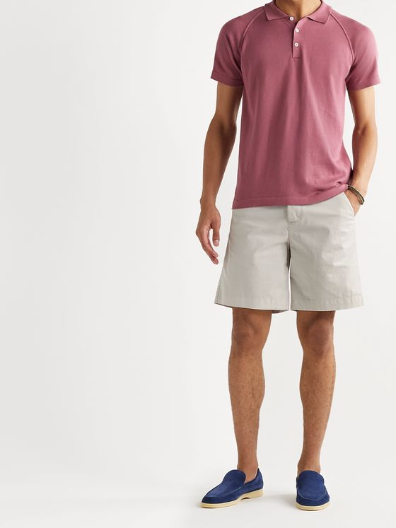 Boglioli Cotton-Blend Gabardine Shorts