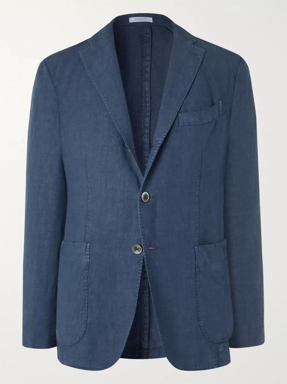 Boglioli Unstructured Linen Suit Jacket