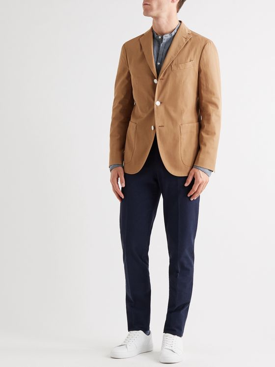 Boglioli Slim-Fit Unstructured Stretch-Cotton Drill Suit Jacket