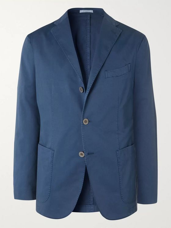 Boglioli K-Jacket Unstructured Stretch-Cotton Twill Suit Jacket