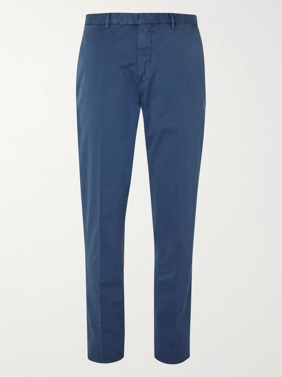 Boglioli Stretch-Cotton Twill Suit Trousers