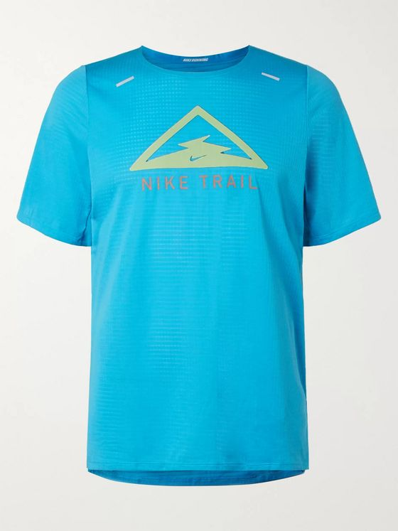 Nike Running Rise 365 Trail Logo-Print Dri-FIT T-Shirt
