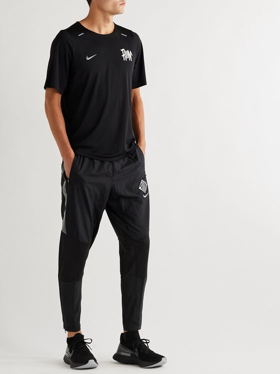 Nike Running Phenom Elite Tapered Mesh-Panelled Shell Sweatpants