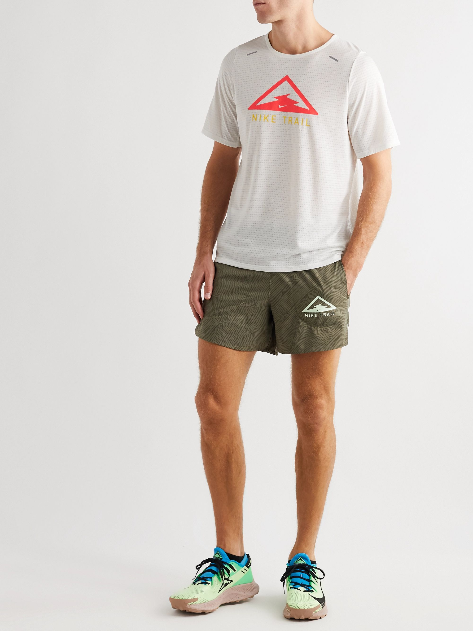 Nike Running Flex Stride Logo-Print Ripstop-Panelled Dri-FIT Shorts