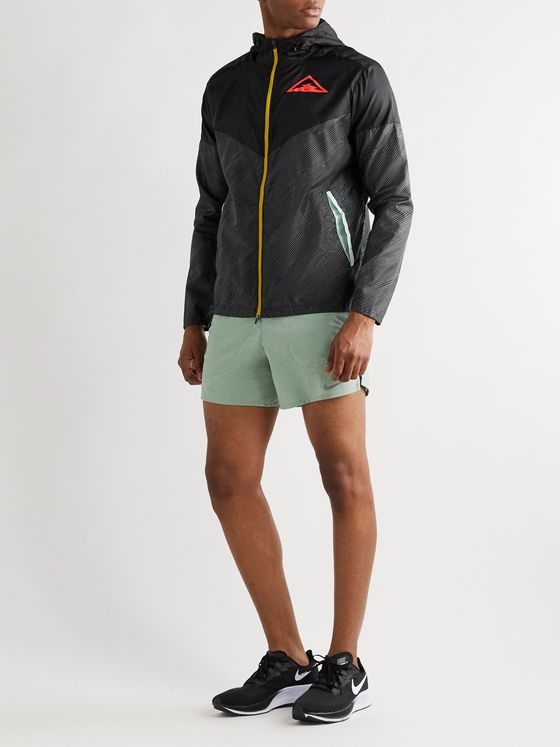Nike Running Windrunner Logo-Print Ripstop Hooded Jacket