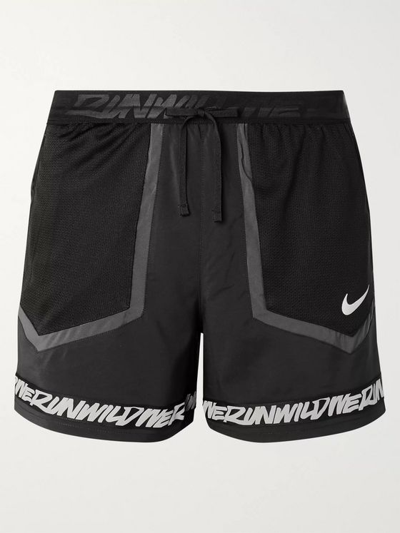 Nike Running Flex Stride Wild Run Printed Mesh-Panelled Shell Running Shorts