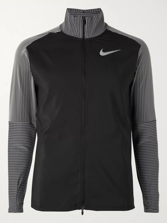 Nike Running Future Fast Striped Stretch-Jersey Zip-Up Sweatshirt