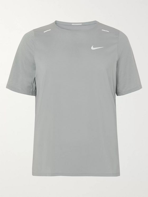 Nike Running Breathe Rise 365 Perforated Stretch-Jersey Running T-Shirt