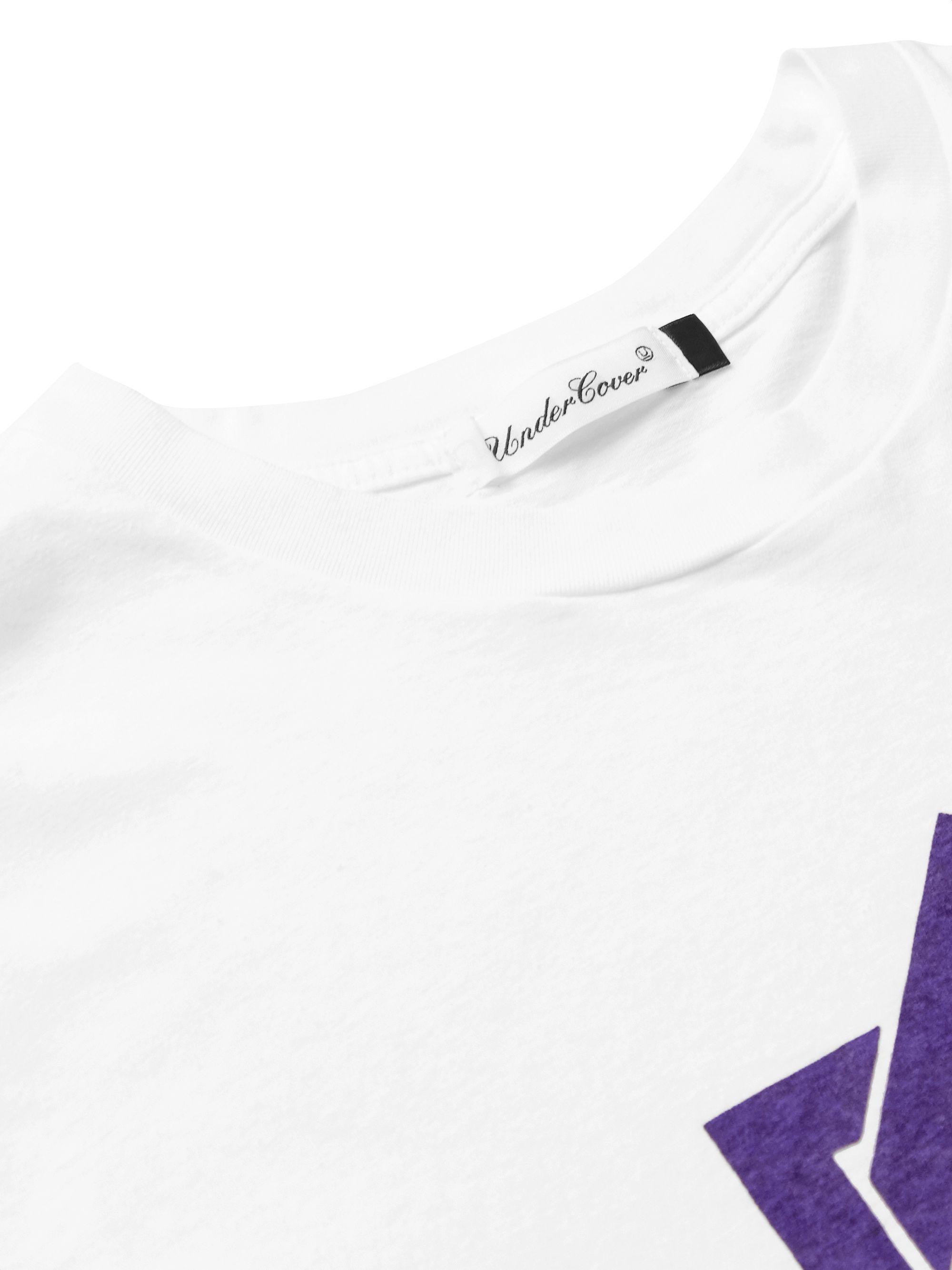 White Printed Slub Cotton-jersey T-shirt | Undercover