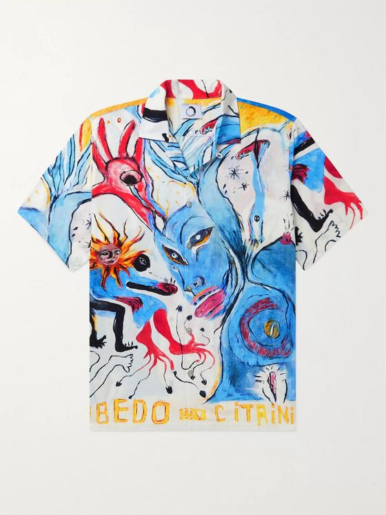 Endless Joy Rubedo Camp-Collar Printed Woven Shirt