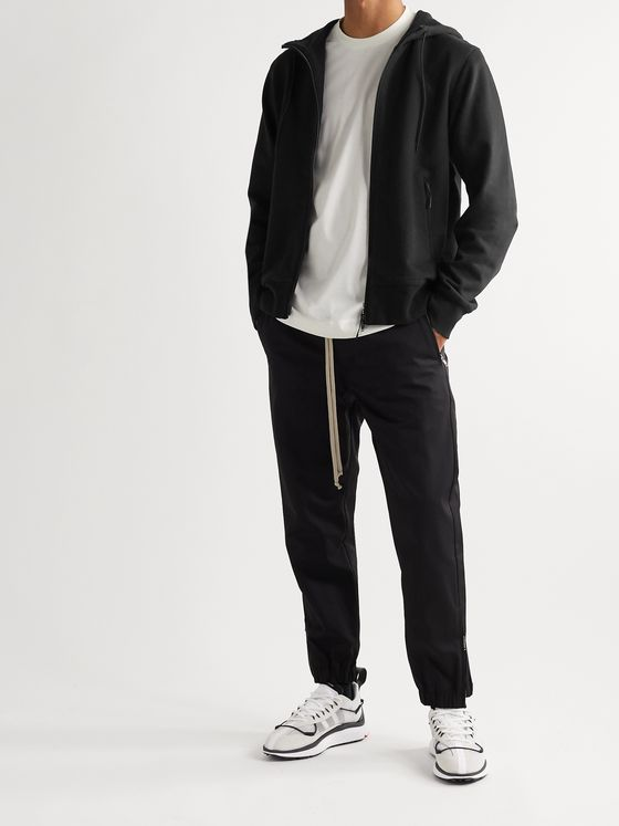 Y-3 Logo-Print Loopback Cotton-Jersey Zip-Up Hoodie