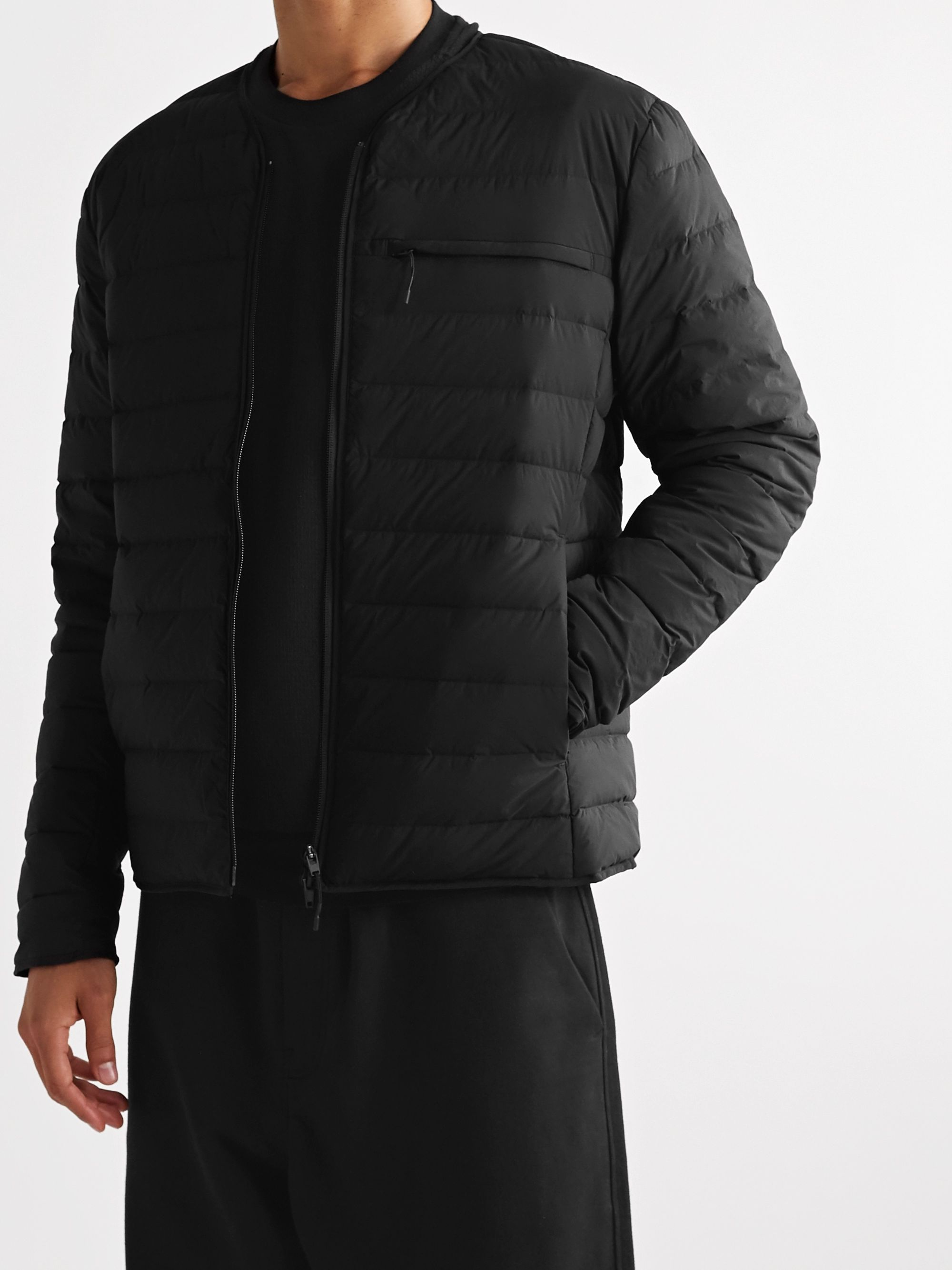 Y-3 Logo-Print Quilted Nylon-Blend Down Jacket