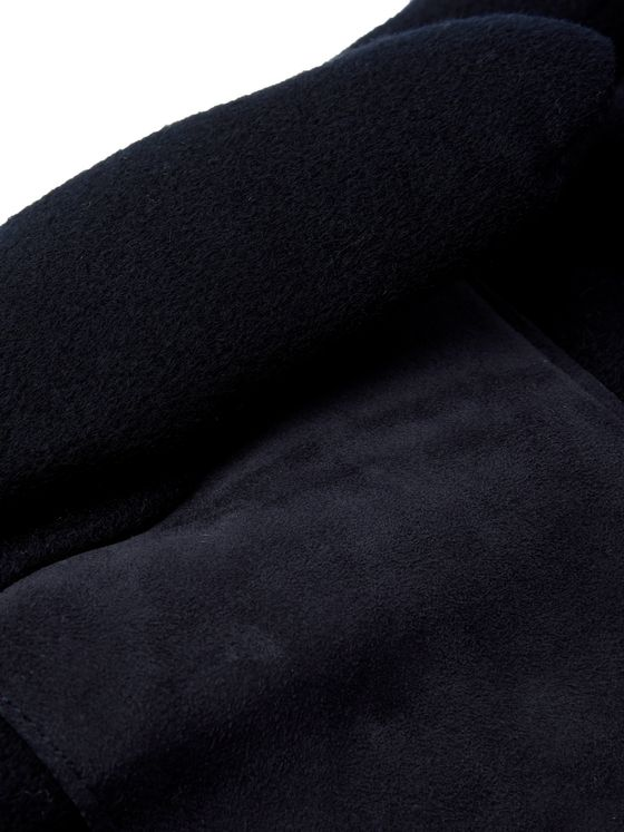 Loro Piana Storm System Suede-Trimmed Padded Cashmere Gloves