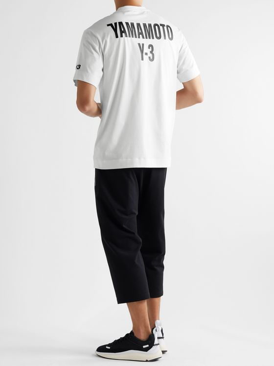 Y-3 Logo-Print Cotton-Blend Jersey T-Shirt