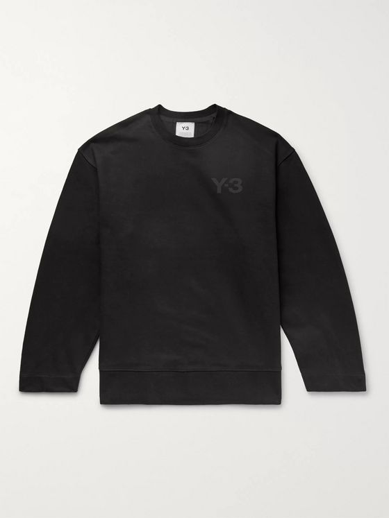 Y-3 Oversized Logo-Print Loopback Cotton-Jersey Sweatshirt
