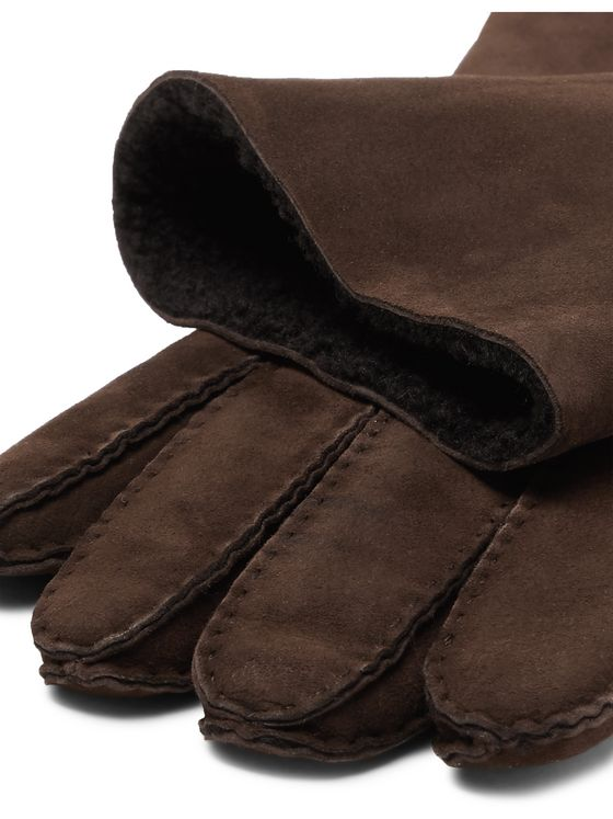 LORO PIANA Shearling Gloves