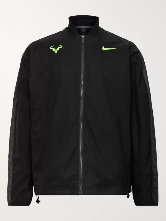 Nike Tennis Rafa Embroidered Satin-Jersey Tennis Jacket