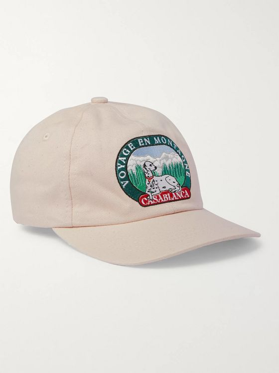 Casablanca Appliquéd Cotton-Twill Baseball Cap