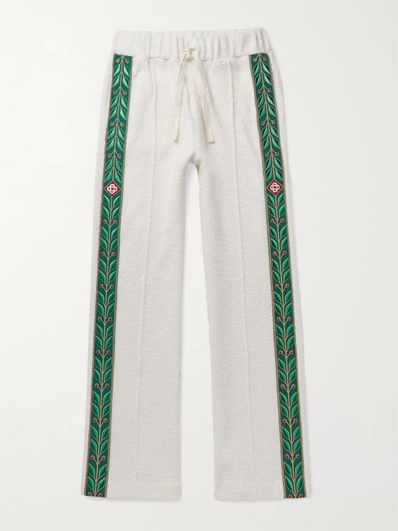 Casablanca Jacquard-Trimmed Terry Track Pants