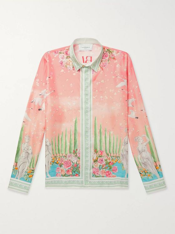 Casablanca Printed Silk-Twill Shirt