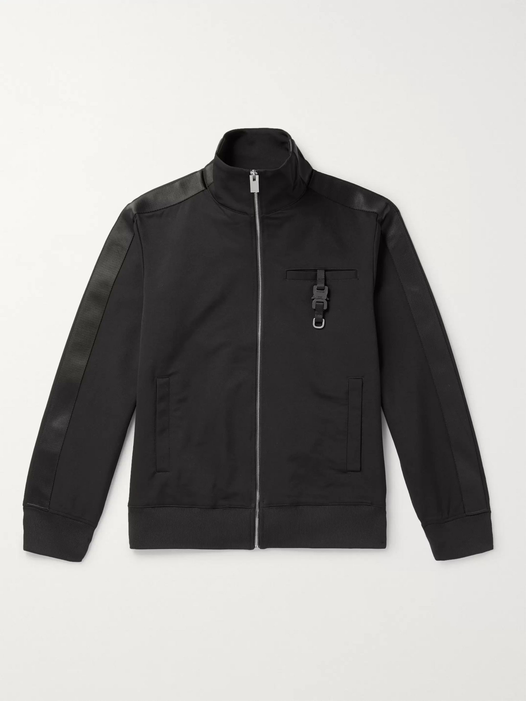 1017 ALYX 9SM Webbing-Trimmed Buckle-Detailed Neoprene Track Jacket