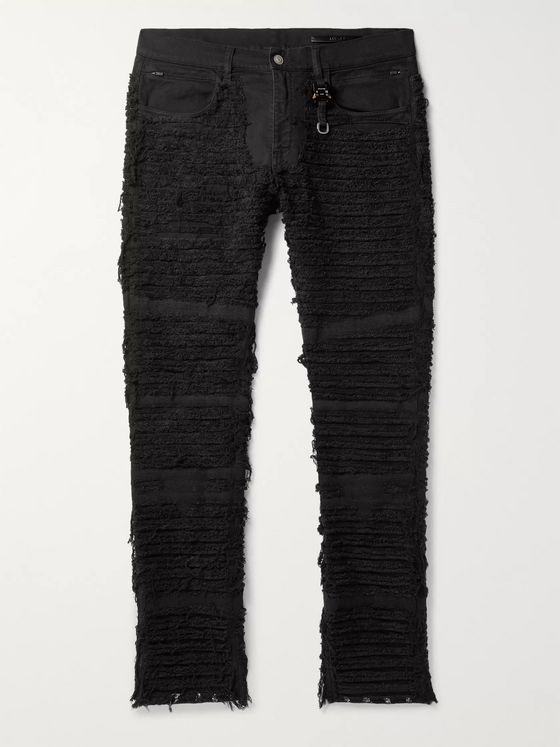 1017 ALYX 9SM + Blackmeans Skinny-Fit Distressed Stretch-Denim Jeans