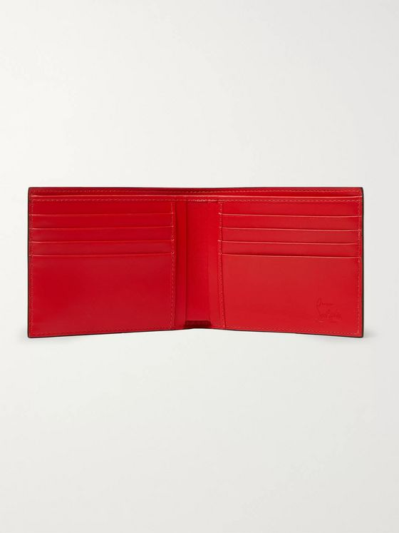 Christian Louboutin Logo-Appliquéd Croc-Effect Leather Billfold Wallet