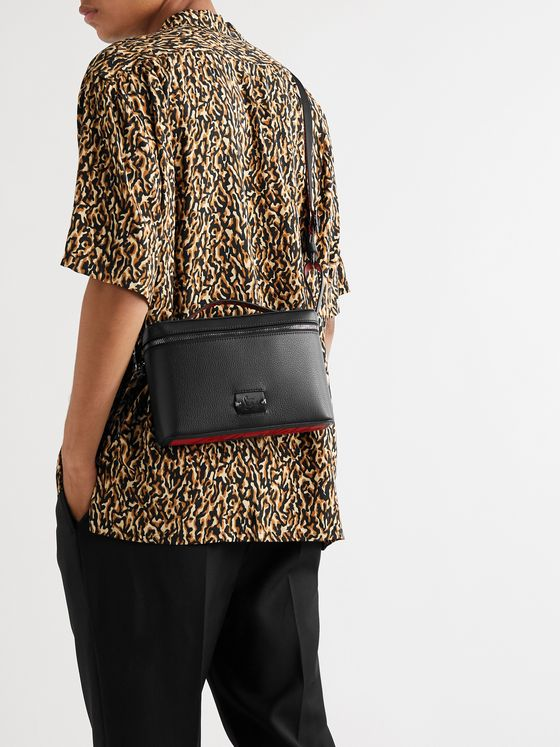 Christian Louboutin Full-Grain Leather Messenger Bag