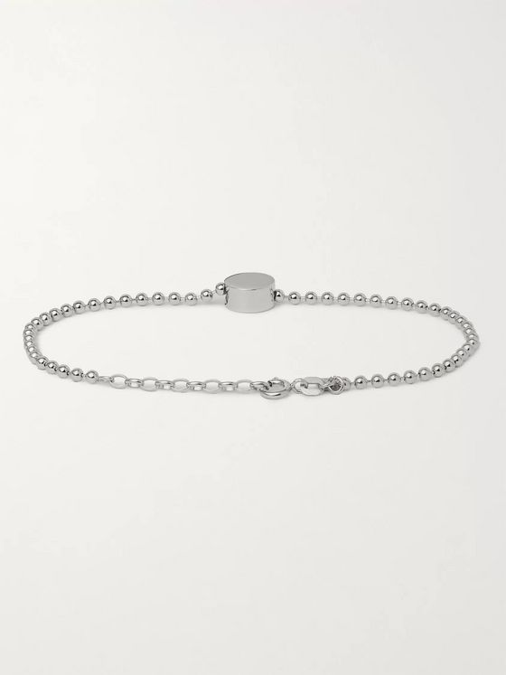 Alice Made This Dot Sterling Silver and Rhodium-Plated Bracelet