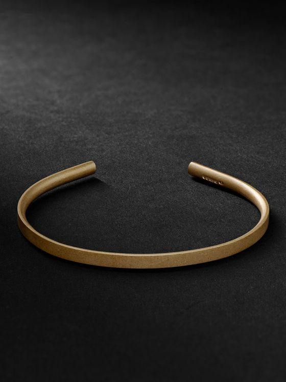 ALICE MADE THIS M4 Bancroft Matte 9-Karat Gold Cuff