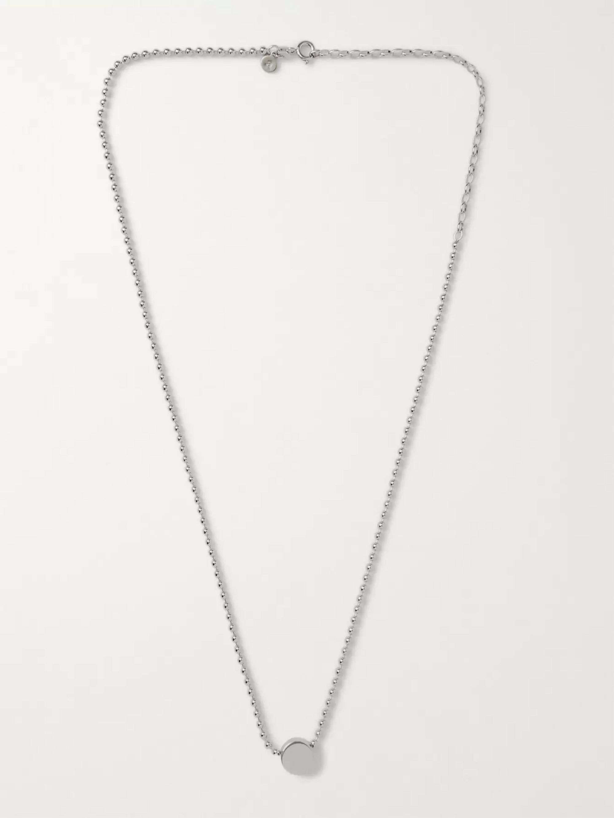 Alice Made This Dot Sterling Silver and Rhodium-Plated Necklace
