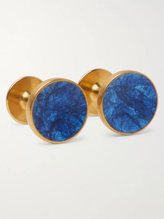 Alice Made This Bayley Gold-Tone Prussian Patina Cufflinks