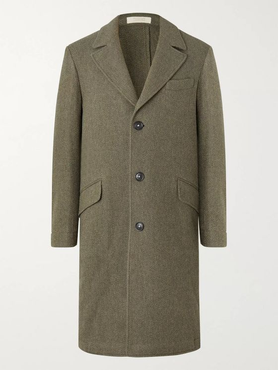 Massimo Alba Herringbone Wool Coat