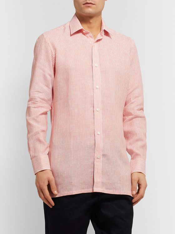 CHARVET Striped Linen Shirt