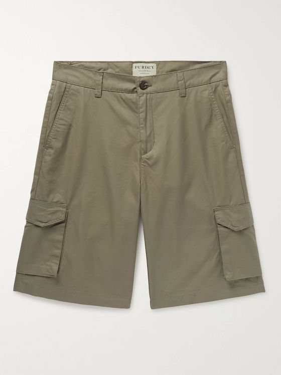 Purdey Cotton-Ventile Cargo Shorts