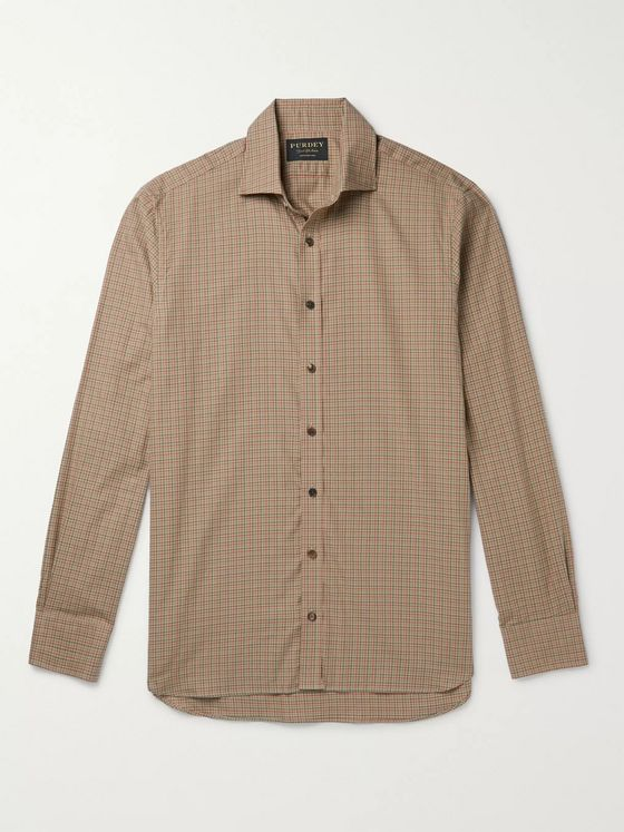 Purdey Grouse Checked Cotton Shirt