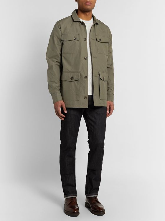 Purdey Percival Cotton-Ventile Utility Jacket