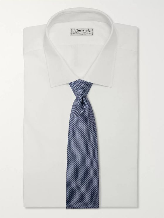 Anderson & Sheppard 8cm Floral-Print Silk-Twill Tie
