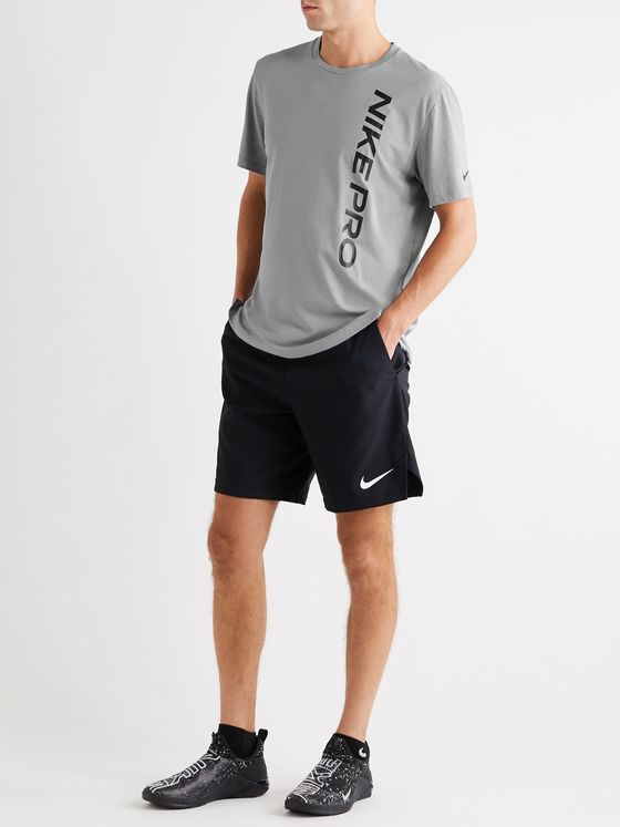 Nike Training Pro Logo-Print Cotton-Blend T-Shirt