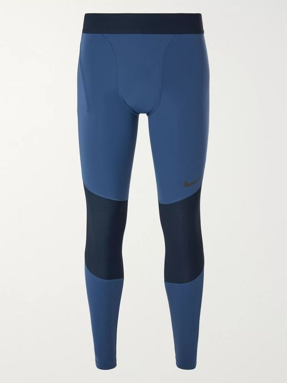Nike Training Pro Mesh-Panelled Stretch-Jersey Tights
